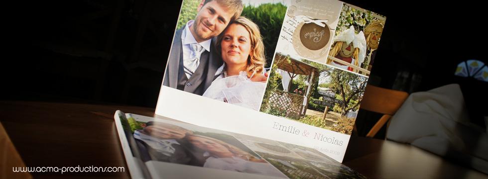 livre de mariage album de mariage reportage photos Livre de Mariage Album de Mariage Reportage photos ACMA MARIAGE LIVRE EMILIE5 1