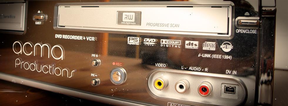 transfert de films sur dvd Transfert de films sur DVD ACMA VHS2 1
