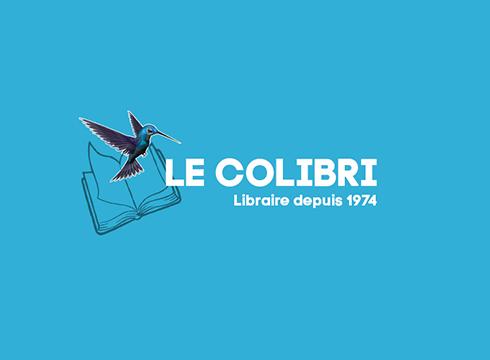 logo texte animé Logo texte animé BLOC logo colibri 1