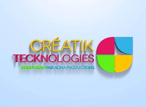 logo professionnel 3d Logo professionnel 3D BLOC logo creatik 1