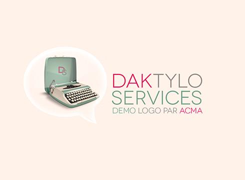 logo professionnel 2d Logo professionnel 2D BLOC logo dactylo 1