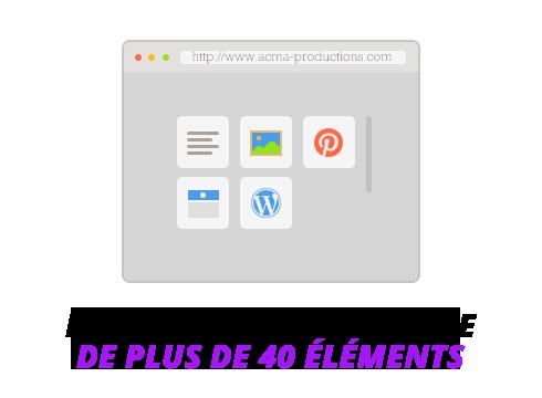 creation site web Création site web BLOC 40elements 1
